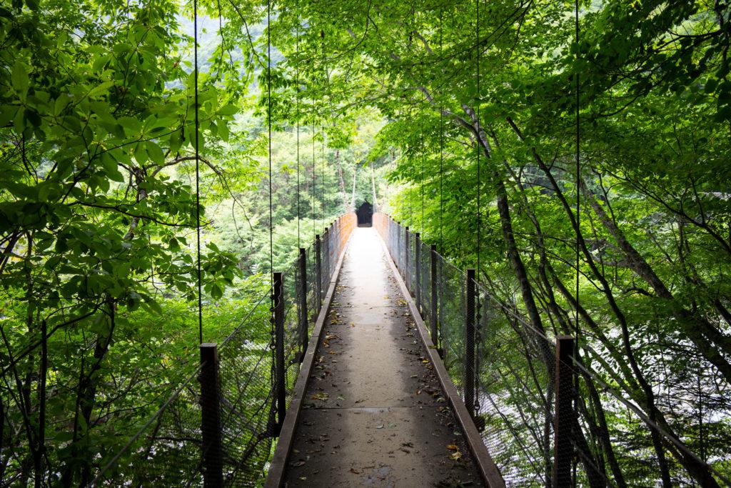 西沢渓谷吊り橋
